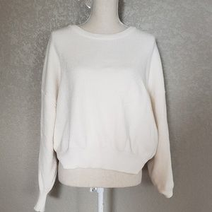 Zara Knit soft sweater cream color